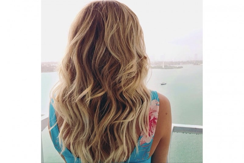 Lauren Conrad capelli: beach waves