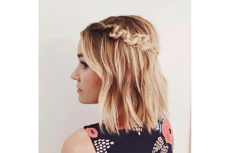 Lauren Conrad capelli: caschetto con treccia