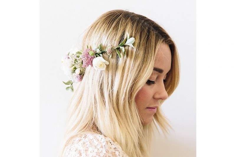 Lauren Conrad capelli: flowers in her hair