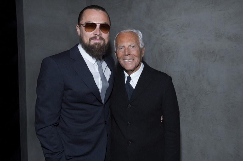 Leonardo Di Caprio e Giorgio Armani