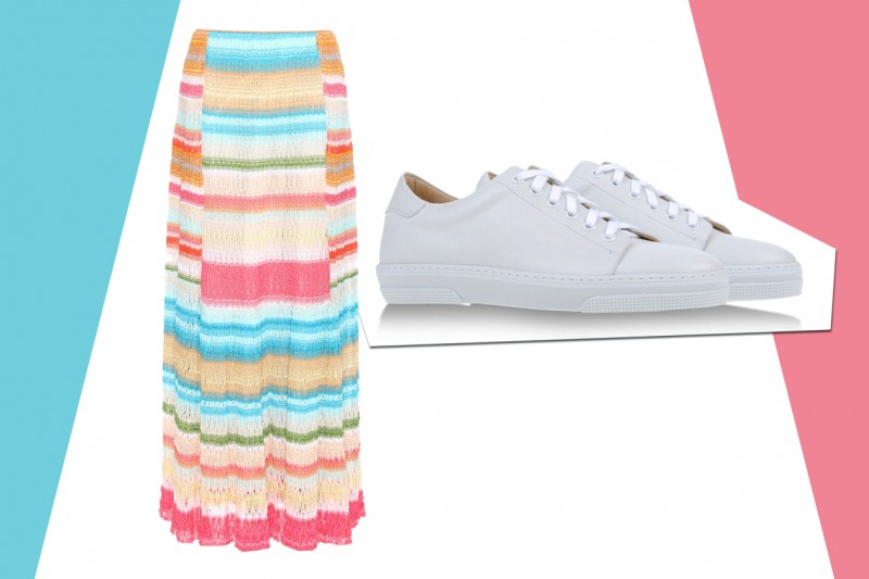 MIX&MATCH: GONNA LUNGA MISSONI + SNEAKERS A.P.C.