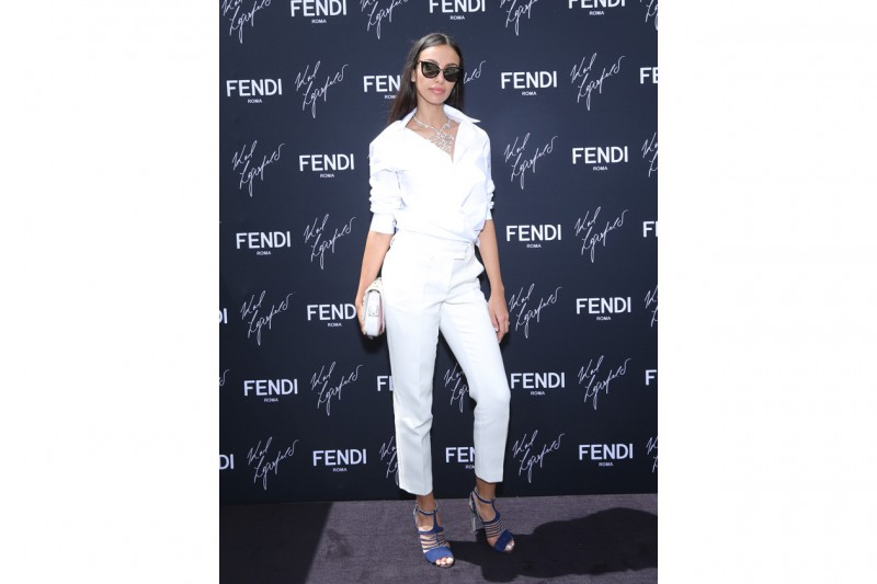 Madalina Ghenea @FENDI by Karl Lagerfeld book presentation Cannes 2015