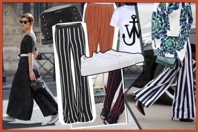 Pantaloni a righe: quattro look per indossarli al meglio