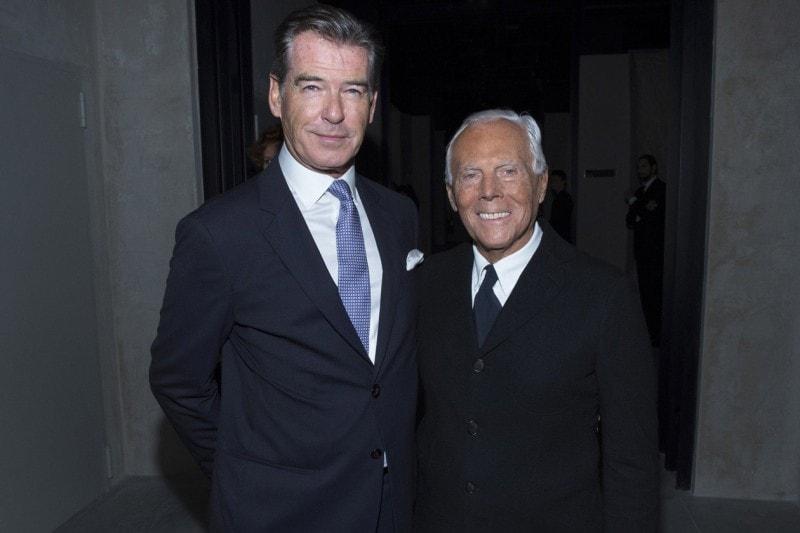 Pierce Brosnan e Giorgio Armani