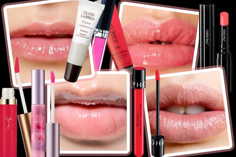 Prodotti labbra con olio idratante: rossetti, gloss e lip balm