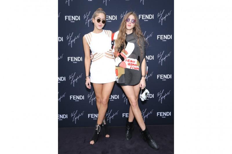 Sama and Haya Khadra @FENDI by Karl Lagerfeld book presentation Cannes 2015