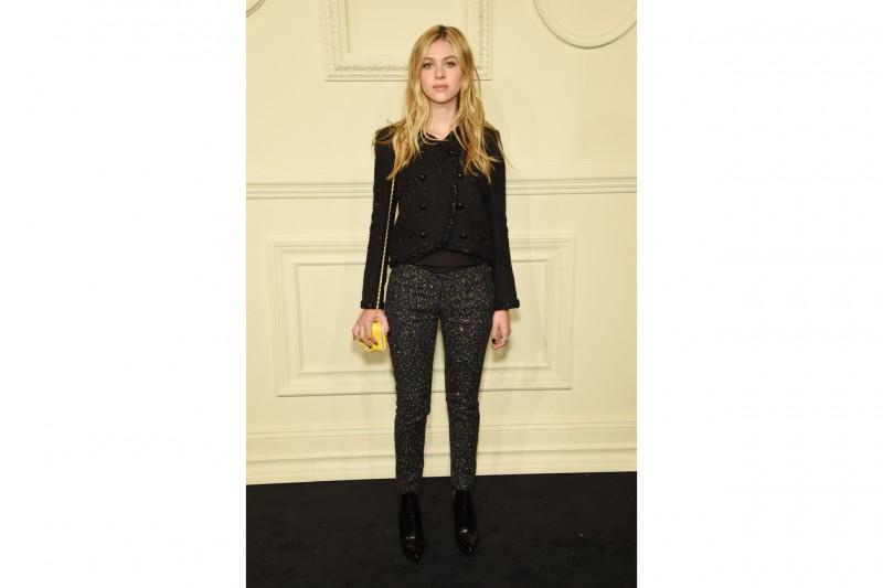 Skinny glitter e giacca in tweed
