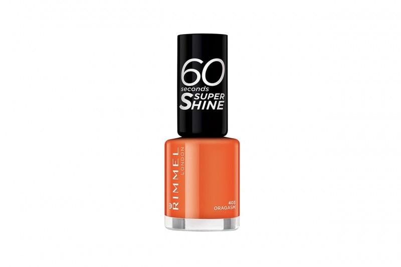 Smalti arancio: Rimmel London 60 Seconds Super Shine Orgasm