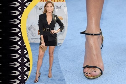 Smalti piedi delle star: Jennifer Lopez