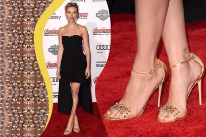 Smalti piedi delle star: Scarlett Johansson