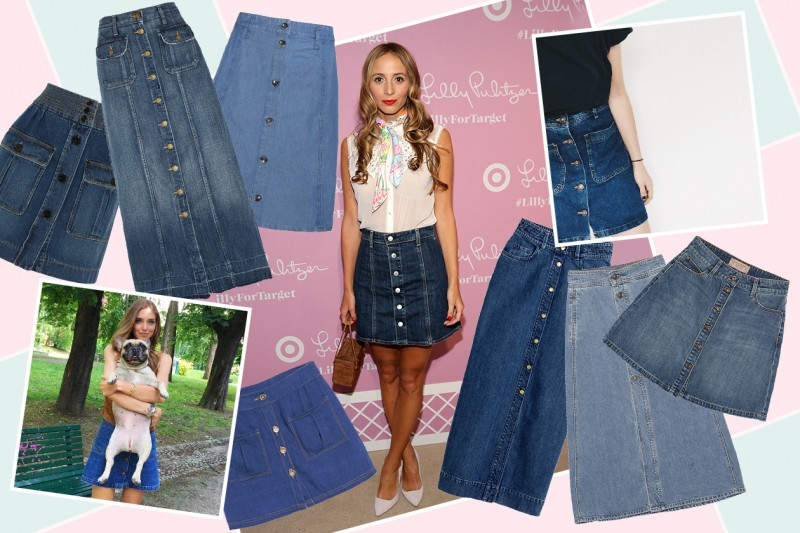 Trend alert: gonna denim con bottoni