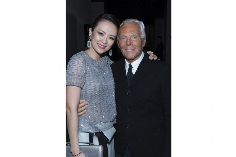 Zhang Ziyi e Giorgio Armani