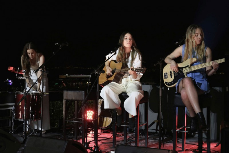 calvin klein celebrate women in film cannes haim 051915 ph getty images