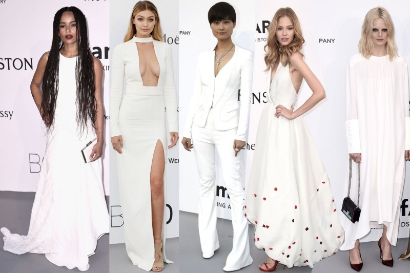 cannes amfar gala 2015: total white
