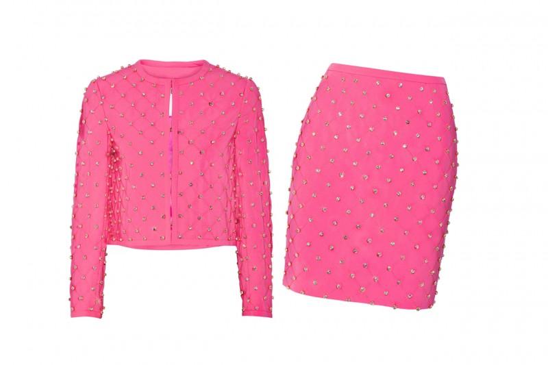 Tailleur rosa shocking: Moschino