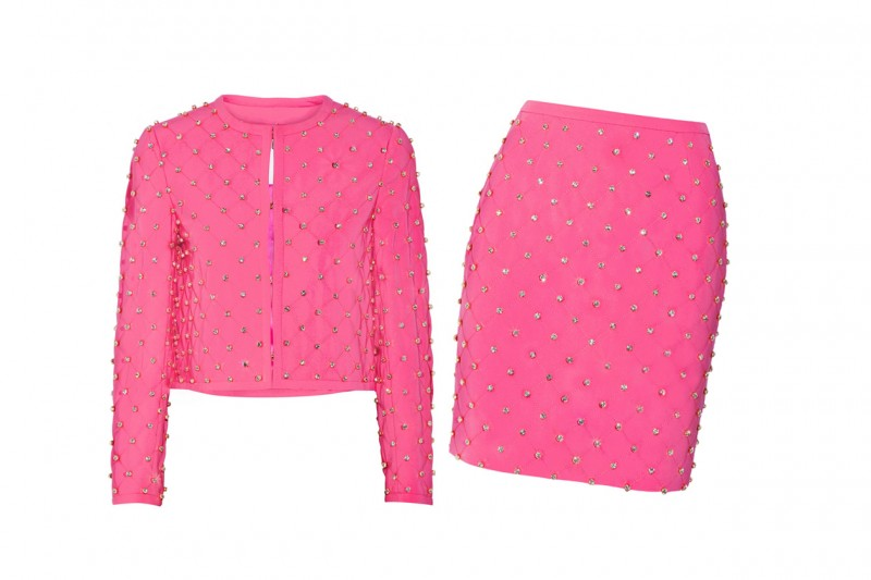 Tailleur rosa shocking: Moschino