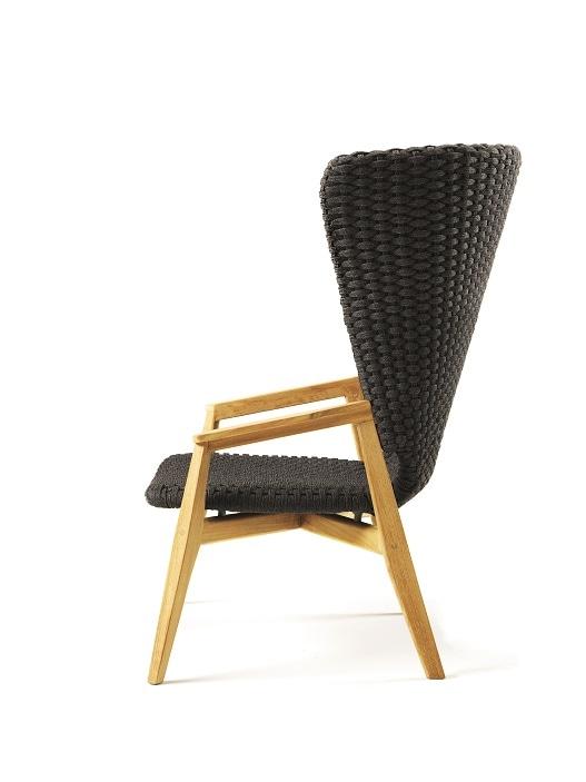 La Knit Lounge Chair High Back di Ethimo