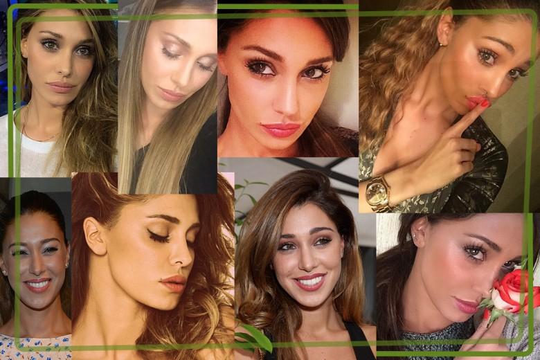 Belen Rodriguez trucco: i make up occhi e viso più belli