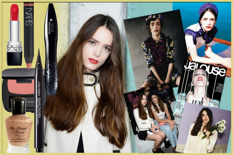 Stacy Martin: beauty look con trucco nude o rossetto rosso