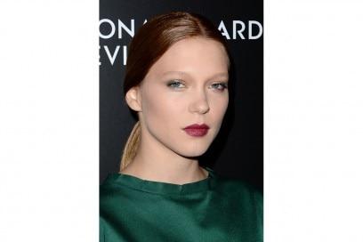 Lea Seydoux trucco: rossetto burgundy