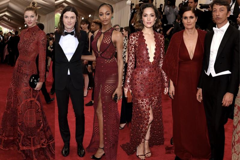 met gala 2015: burgundy