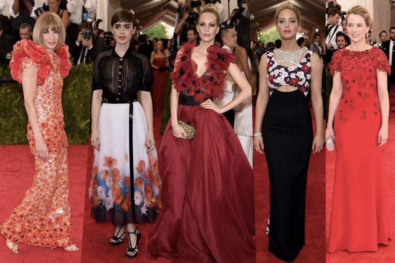 met gala 2015: fiori