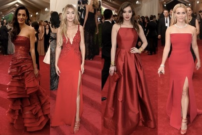 met gala 2015: rosso