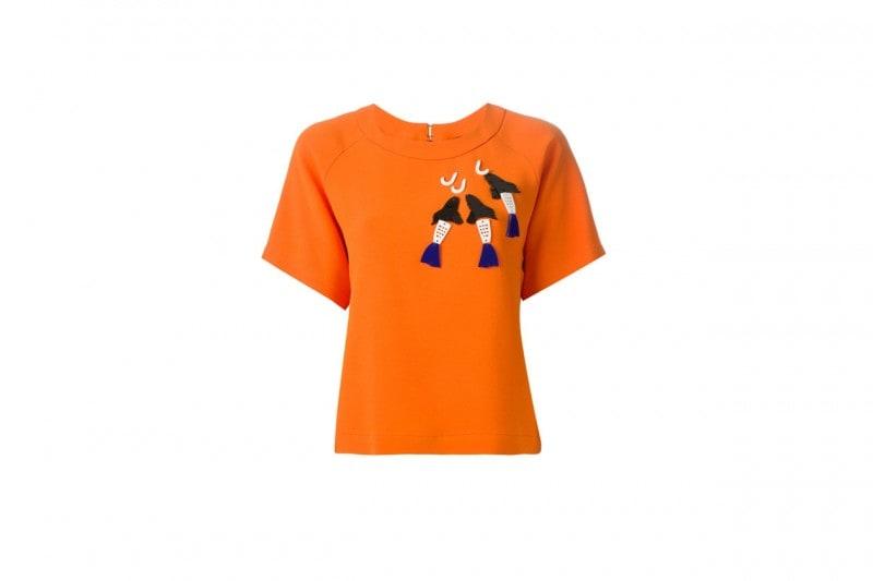 T-shirt con applicazioni: Giulia Rositani
