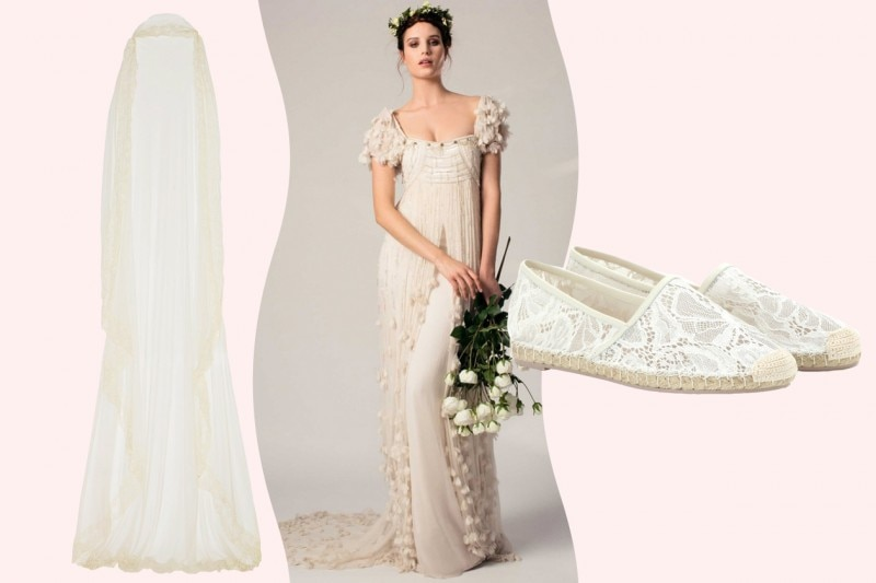 sposa bohémien: l'abito
