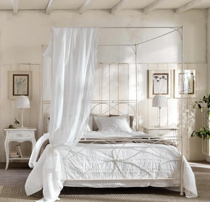 Come arredare la camera da letto in stile shabby chic - Camera stile country ...