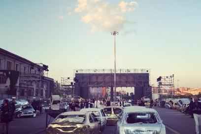 Mad Max inspiration for @philippleinofficial #pleinpunk  admire you! #grazialovesbackstage