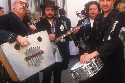 Boy Band da @antoniomarrasofficial #mfw #grazialovesbackstage