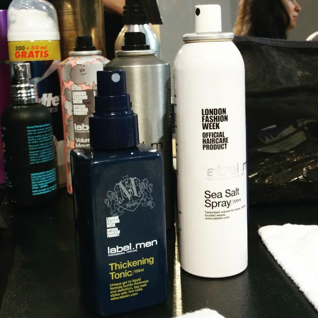 #grazialovesbackstage I prodotti label.men by Tony&Guy usati per l'hairstyling @msgm_official #tonyandguy