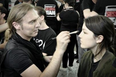 Backstage Antonio Marras: Michele Magnani at work