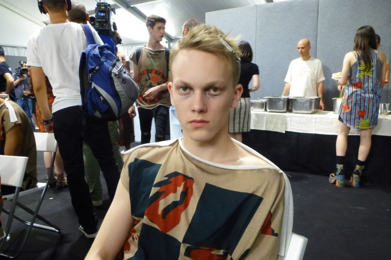 Backstage Vivienne Westwood: focus on eyes