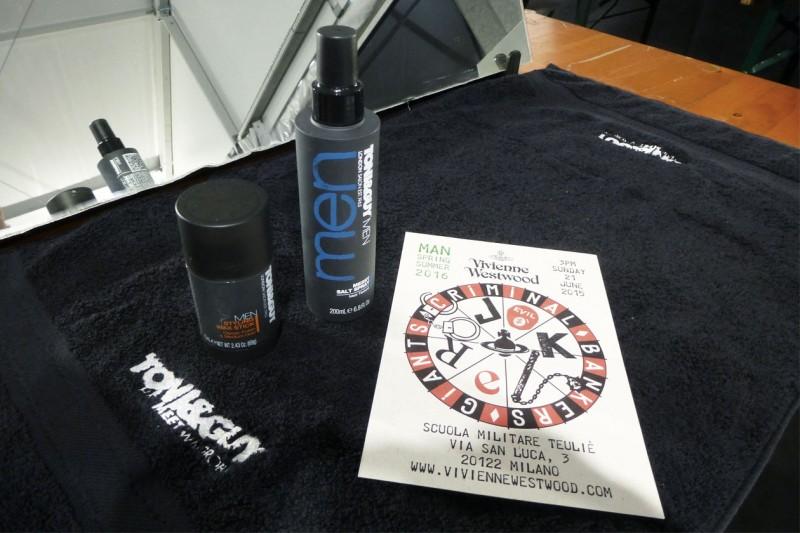Backstage Vivienne Westwood: i prodotti per l'hair styling