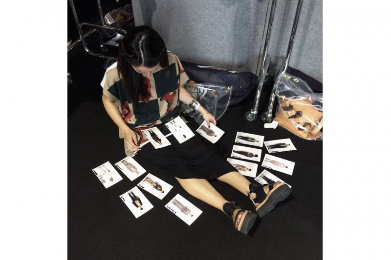 Backstage Vivienne Westwood: outfit