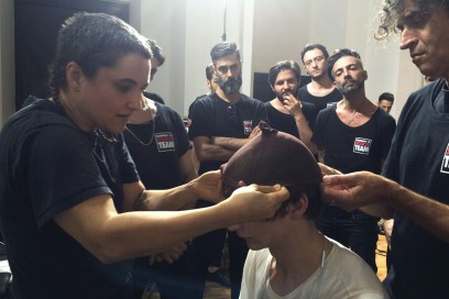 Backstage sfilata MSGM: l'hairstyling
