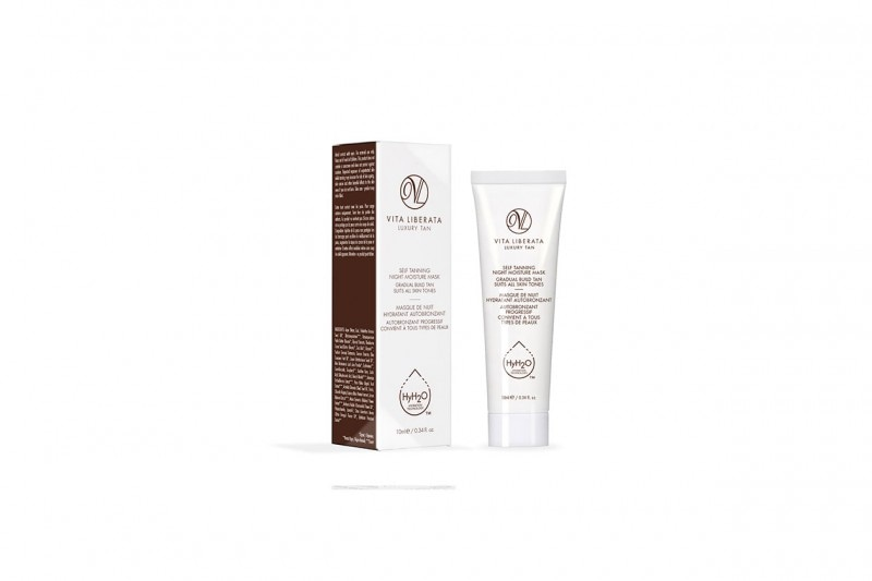 COME TRUCCARSI CON UN LOOK COLORATO EFFETTO RAINBOW: NUDE CON SELF TANNING NIGHT MOISTURE MASK DI VITA LIBERATA