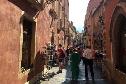 Il centro pedonale di Taormina
