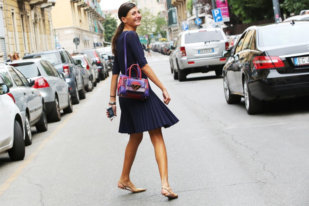 Vestiti Da Ufficio : Look da ufficio vestito plissé e ballerine foto grazia