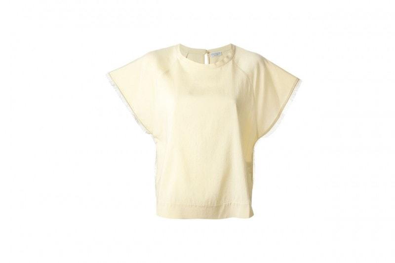 La tendenza dallo street style: la blusa giallo camomilla di Brunello Cuccinelli