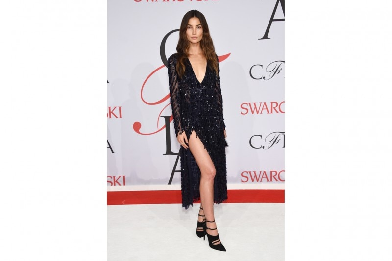 Look sparkling: Lily Aldridge in Thakoon