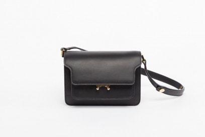 MARNI Mini Trunk in black leather