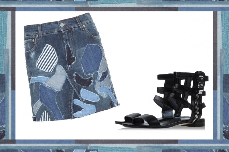 MIX & MATCH: GONNA IN JEANS  DOLCE & GABBANA + SANDALI DA GLADIATORE STUART WEITZMAN