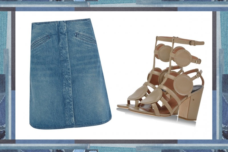 MIX & MATCH: GONNA IN JEANS MIH JEANS + SANDALI DA GLADIATORE LAURENCE DACADE