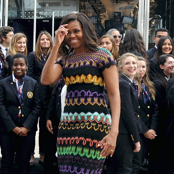 Michelle Obama sceglie Missoni per la sua visita ad EXPO
