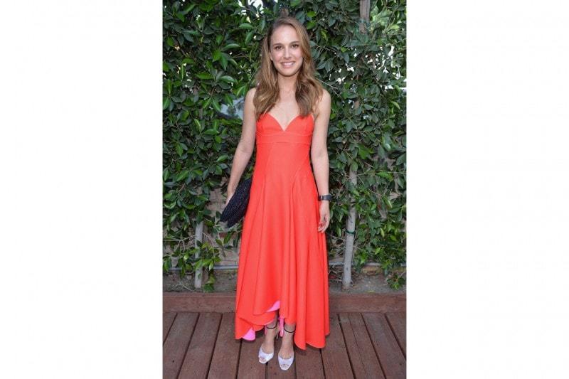 Natalie Portman in rosso Christian Dior