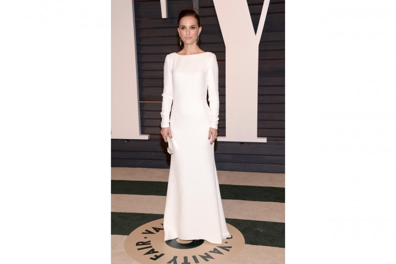 Natalie Portman in total white Christian Dior
