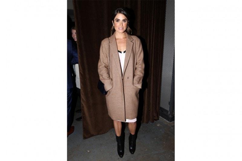 Nikki Reed: in maxi camel coat